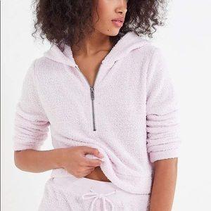 Marshmallow Half-Zip Hoodie Sweatshirt